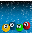 new years billiard vector image