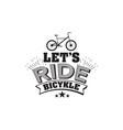 bicycle riding emblem vector image