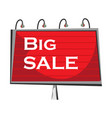 big sale banner on white background vector image