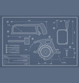 blueprint building tool set drawing plan layout vector image