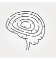 brain maze with correct vector image