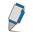 drawing blue and white pen utensil school vector image