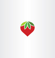 flat strawberry icon symbol vector image