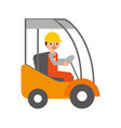man driving a delivery truck logistic working vector image
