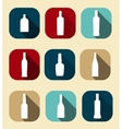 Modern Flat Dink Icon Set for Web and Mobile vector image