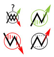 set icon arrow up down move vector image