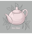 Teapot on grey background vector image