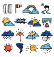 Weather Color Set vector image