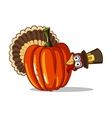 Turkey And Pumpkin vector image