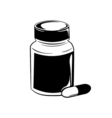 Pill bottle isolated on white vector image