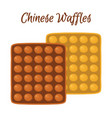 sweet chinese waffle for breakfast cartoon style vector image