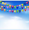 bunting birthday flags vector image vector image