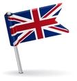British pin icon flag vector image vector image