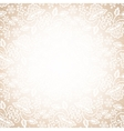 lace frame on beige background vector image