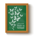 chalkboard butterfly green vector image vector image