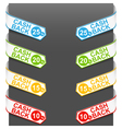left and right side signs - cash back vector image vector image
