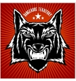 Retro wolf mascot athletic design complete with vector image vector image