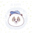 cute panda character vector image vector image