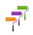 Paint rollers isolated on vector image