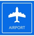 Airport sign Airplane icon vector image