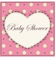 Baby shower with heart pink vintage vector image