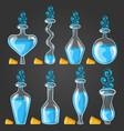 big set with different magic elixir vector image