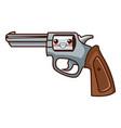 classic handgun weapon kawaii cute cartoon vector image