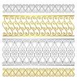 fence damask artistic pattern vector image
