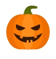 halloween pumpkin with sinister smiling vector image