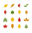 Leaf color icons vector image