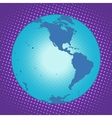 Planet Earth Western hemisphere vector image