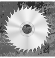 Silver Metal Saw Disc vector image