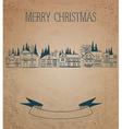Vintage Christmas card European Houses vector image