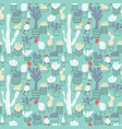 seamless pattern of cute potted cactuses vector image vector image