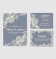 wedding cards vector image vector image