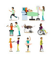 flat icons set of medical staff and vector image