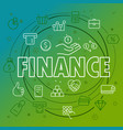finance concept different thin line icons included vector image