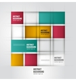 abstract background Square color geometric vector image vector image