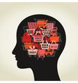 Sale a head vector image