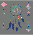 Color American Indians dreamcatcher with bird vector image vector image