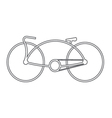bicycle symbol design vector image vector image