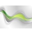 Smooth green grey abstract waves design vector image vector image