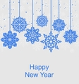 Winter Background for Happy New Year vector image