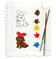 baby drawing vector image