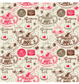 Afternoon Tea Background Pattern vector image