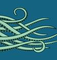 Cartoon tentacles vector image