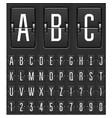 mechanical countdown timer - flip scoreboard vector image