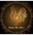 New Year greeting card with Rooster vector image