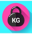 Weight Icon in trendy flat style Sport fitness vector image