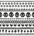 Seamless halloween pattern in tribal style vector image vector image